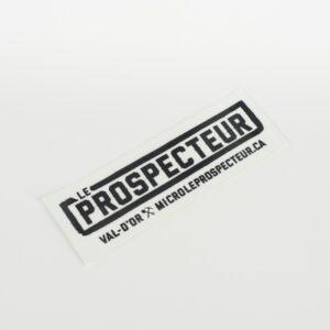 """Autocollant Modèle """"Prospecteur"""""""