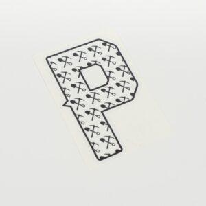 """Autocollant Modèle """"P"""""""
