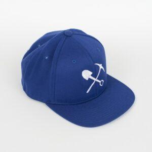 Casquette bleue avec Pic-Pelle blanc