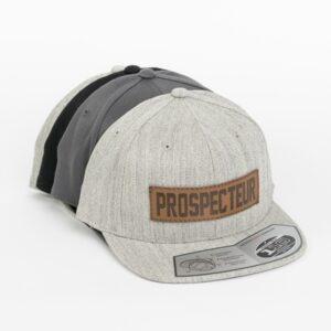 Casquette snapback avec patch du Prospecteur