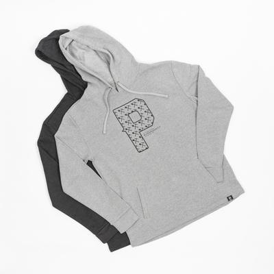 Coton ouaté gris avec «P»